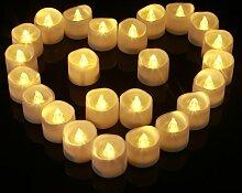 LED-Teelicht led-Kerzen, 24 Stücke mit Batterie