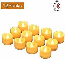 LED-Teelicht led-Kerzen, led teelichter mit timer