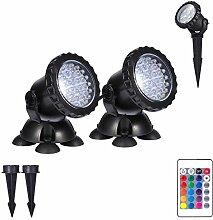 LED Teichbeleuchtung Unterwasser Spot Licht 36