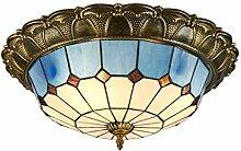 LED Tiffany-stil Deckenleuchte retro, Blauer