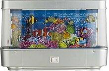 LED Tisch Leuchte Hobby Kinder zimmer Lampe Schalter Rotation Fische Meer Unterwasser Globo 28961