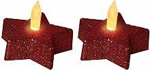 LED-Tischdekoration Star 5 cm, roter Stern
