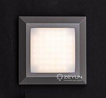 LED Treppenlicht eckig, Flurlampe Wandleuchte für