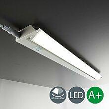 LED Unterbauleuchte Schwenkbar Lichtleiste Küchenleiste LED Küchenleuchte Küchenlampe Schrankleuchte Schranklampe Titan Ein/Ausschalter 56 x 6,1 x 3 cm 8,5 Watt 840 Lumen