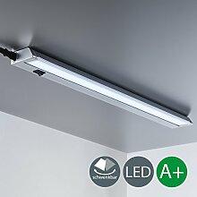 LED Unterbauleuchte Schwenkbar Lichtleiste Küchenleiste LED Küchenleuchte Küchenlampe Schrankleuchte Schranklampe Titan Ein/Ausschalter 55 x 6,1 x 2,4 cm 8,5 Watt 840 Lumen