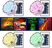 LED Unterwasserbeleuchtung Set von 4 Wasserdicht Hochzeit Unterwasser Teelicht Sub LED Ligh
