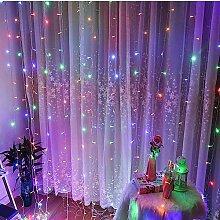 LED Vorhang Lichterkette 4m LED Diode