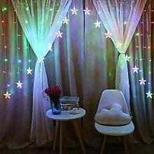 LED-Vorhang-Lichterketten, Weihnachtsbeleuchtung,