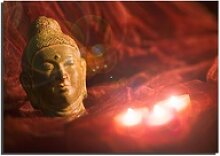 LED Wand Bild Wohn Schlaf Zimmer Dekoration Buddha