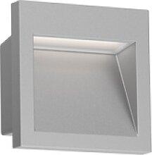 LED Wand-Einbauleuchte Nola für außen, grau,