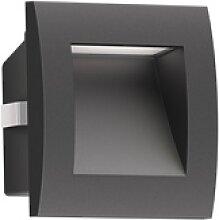 LED Wand-Einbauleuchte Zibal für außen, schwarz,