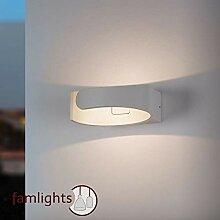 LED Wandaussenleuchte aus Aluminium, Weiß-Matt,