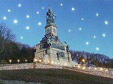 LED Wandbild mit Beleuchtung Niederwald Denkmal