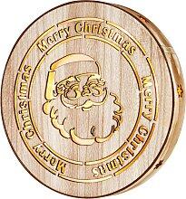 LED-Wanddeko Santa, beige