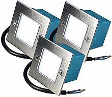 LED Wandeinbauleuchten 230V Einbaustrahler Lea 3 x