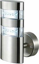 LED Wandlampe Außenleuchte Außenlampe Toronto Edelstahl IP44 Wandleuchte Lampe