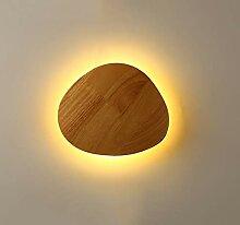 LED Wandlampe Holz Wandleuchte innen warmweiß