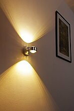 LED Wandlampe Indore, Wandleuchte aus Metall/Glas