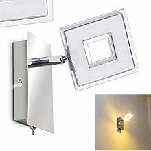 LED Wandlampe Krakau, Wandleuchte aus Metall in