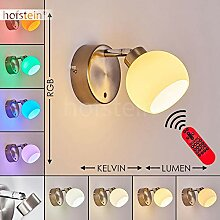LED Wandlampe Motala, dimmbare Wandleuchte aus