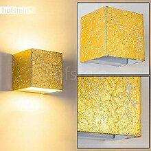 LED Wandlampe Olbia in Goldfarben - Moderner