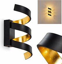 LED Wandlampe Rezat, Wandleuchte aus Metall in