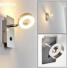 LED Wandlampe Russell, Wandleuchte aus Metall in