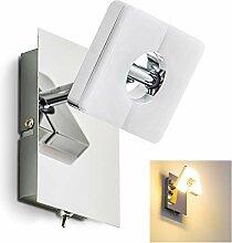 LED Wandlampe Turin, Wandleuchte aus Metall in