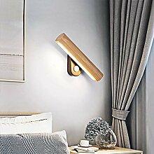 LED Wandleuchte 360° Schwenkbar Holz Wandlampe