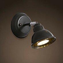 LED Wandleuchte 3W Warmes Licht 3000K Schwarz