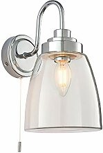 LED-Wandleuchte, 4 W, E14, IP44-bewertet, Chrom &
