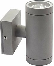 LED Wandleuchte Aussen VENTO (Grau) Wand-lampe up