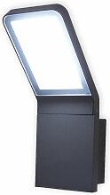 LED Wandleuchte Außen Villads dunkelgrau 6500 K
