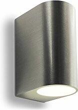 LED Wandleuchte Außenleuchte 2-Flammig Aluminium