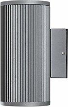 LED Wandleuchte Berlin Außenleuchte, 2-Flammig, Aluminium, Grau, GU10-230V, (Form:A6) (Kaltweiß)