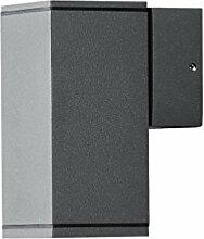 LED Wandleuchte DOM Außenleuchte, 1-Flammig, Aluminium, Anthrazit, GU10-230V, (Form:F5) (DIMMBAR / Warmweiß)