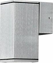 LED Wandleuchte DOM Außenleuchte, 1-Flammig, Aluminium, GU10-230V, (Form:F4) (Warmweiß)