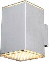 LED-Wandleuchte für Innen und Außen aus