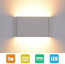 LED Wandleuchte Innen Wandlampe Weiß Wandstrahler