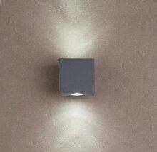 LED Wandleuchte Ivo 2, 2-flammig, 2x1W, 6000K, IP44