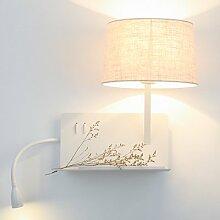 Led Wandleuchte Kreative Nachttischlampe Einfache Moderne Nordic Hotel Schlafzimmer Regal Wandleuchte , linen left [give 3 watts led]