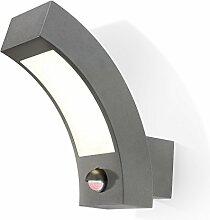 LED Wandleuchte Line PIR Wandlampe Außenleuchte Bewegungsmelder esotec 105198