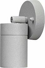 LED Wandleuchte SPOT Außenleuchte, 1-Flammig, Aluminium, Grau, GU10-230V, (Form:W23) (Kaltweiß)
