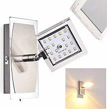 LED Wandleuchte Tarnala, Wandlampe aus Metall in