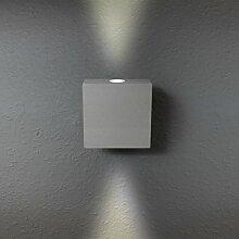 LED Wandleuchte Wandlampe Außenleuchte Grau Up