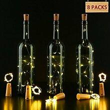 LED Wasserdicht Lichterketten, GreensKon Weinflasche Licht Flaschenlichter Mini Lichterkette Stimmungslichter Kupferdraht Lichter Fairy Silber Kupfer Draht Sternenlicht Korken Weinflaschen kette DIY