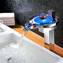 LED Wasserfall Waschbecken Wasserhahn,