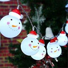 LED Weihnachten Schneemann String Licht