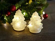 LED-Weihnachtsbaum, 2er-Set Cilja Tree weiß,