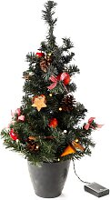 LED-Weihnachtsbaum, natur, rot